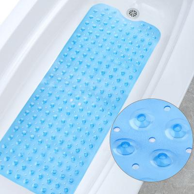 JIAJIELI Đệm chống trơn Thảm phòng tắm PVC dài 100 * 40cm Thảm tắm trong phòng tắm có vòi hút thảm A