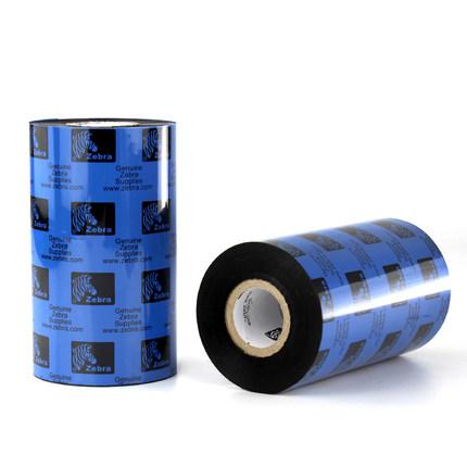 ZEBRA Ruy băng than Zebra Full Nhựa-Ribbon Ribbon 60 60 70 80 110mm * 300m PET Trang sức Nhãn Carbon