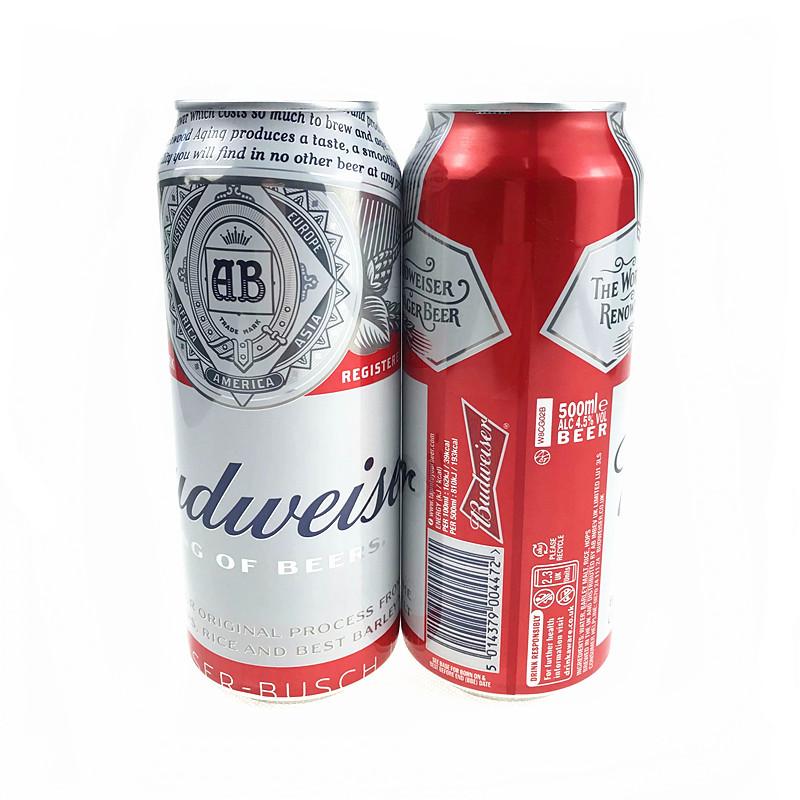 Budweiser NLSX bia Rượu bia cổ điển nhập khẩu của Anh là bia Budweiser / bia Budweiser 500ml24 thùng
