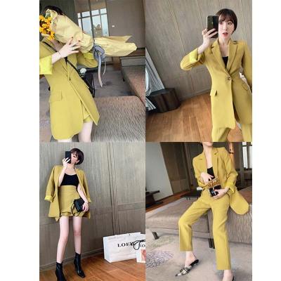 Đồ Suits Xuân 2019 mới lưới đỏ eo nhỏ phù hợp với nữ phiên bản Hàn Quốc + thắt lưng cao rộng nửa váy