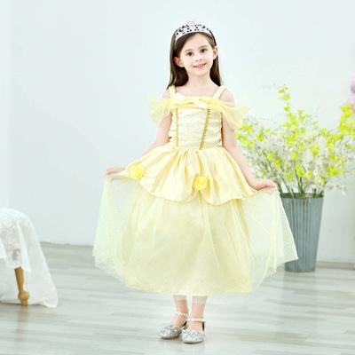 Thị trường trang phục trẻ em Váy công chúa Belle Người đẹp và Quái vật Bell Girl Dress Halloween Chi