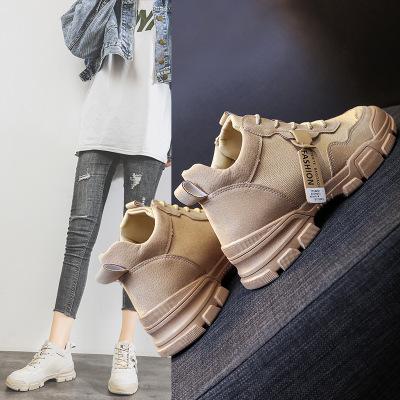 giày bánh mì / giày Platform Booties mùa thu mới 2019 mới Martin ống ngắn của Anh Martin giày đế xuồ