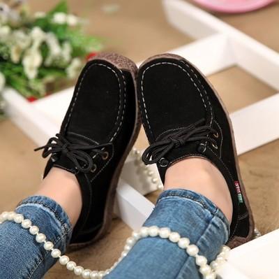 giày bệt nữ 2019 giày da đế giày đế bằng nữ đế bằng giày đậu Hà Lan đế bằng phẳng đáy chống trượt qu