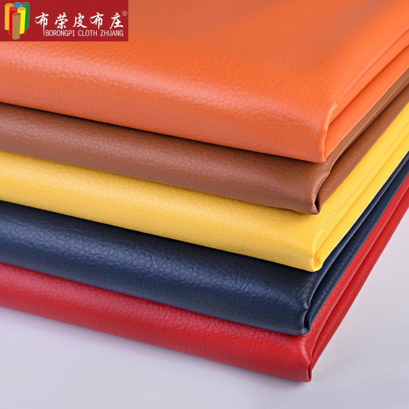 BURONGPI Da heo Nhà sản xuất tại chỗ bán buôn sofa da nhân tạo PU vải thiều lớn vải da giường mềm gó