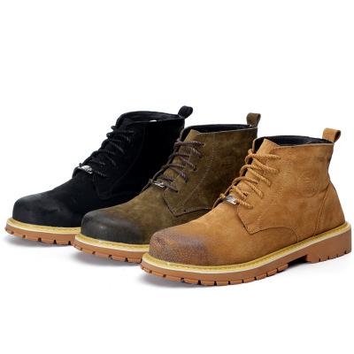 Giày bảo hộ Cung cấp đặc biệt xuyên biên giới Giày an toàn cao trên cùng có gân dưới thời trang chốn