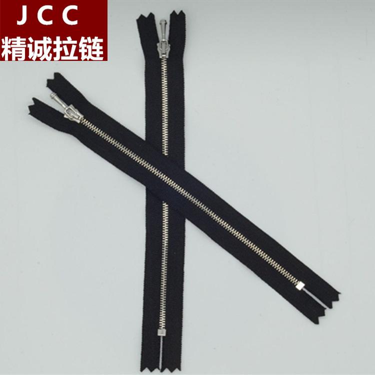 JCC Dây kéo kim loại Kim loại Y răng 0 dây kéo kim loại tùy chỉnh kim loại phụ kiện dệt may đóng túi