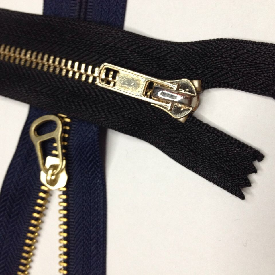 Dây kéo kim loại Zipper Che giấu Zipper 5 # Platinum Mở kim loại Che giấu Zipper Zipper