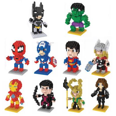 Đồ chơi hoạt hình LNO kim cương hạt nhỏ xây dựng khối giáo dục trẻ em Marvel Avengers loạt đồ chơi x