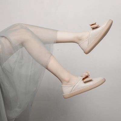 Giày GuangDong Giày đế bằng đơn nữ 2019 mùa xuân mới phiên bản Hàn Quốc của giày đế bệt đế mềm 34-4