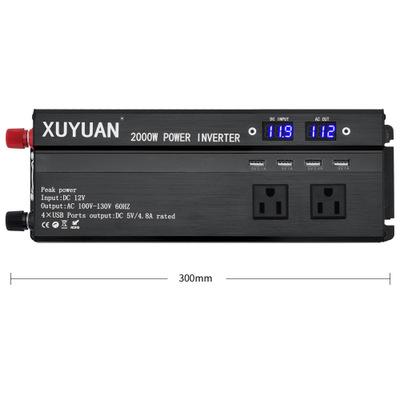 Thiết bị biến áp  Xuyuan   Biến tần xe tiêu chuẩn Hoa Kỳ 12 v biến 110v / 2000w / với bộ chuyển đổi