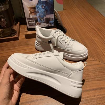 Giày trắng nữ Giá đặc biệt! Giày trắng đế dày bốn mùa