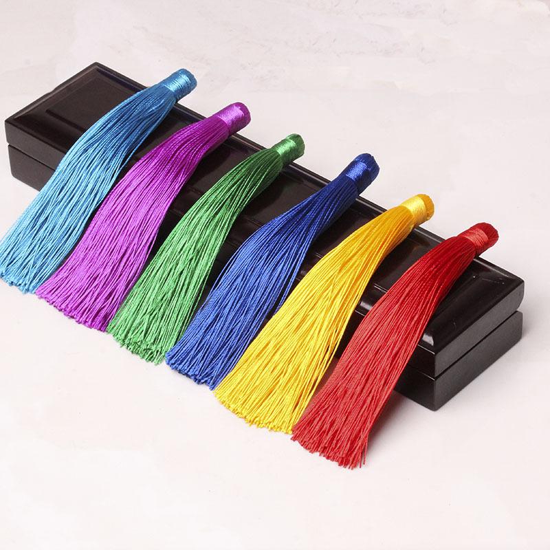 sợi tua 12cm nhỏ Trung Quốc tua tua tua DIY DIY trang sức phụ kiện vật liệu xe treo trang trí treo t