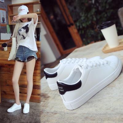 Giày trắng nữ Giày trắng nhỏ nữ 2019 mùa thu mới học sinh văn học Phiên bản tiếng Hàn của giày đa nă