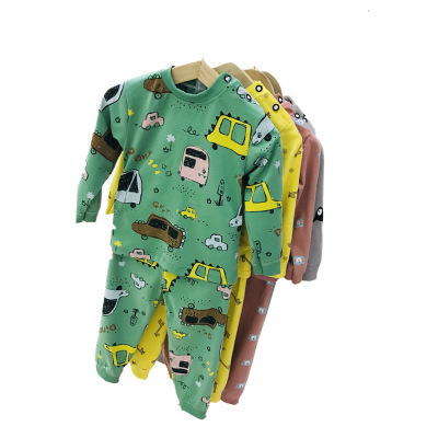 Thị trường trang phục trẻ em Quần áo trẻ em mùa thu trẻ em đầy đủ đồ lót cotton in quần áo bé trai v