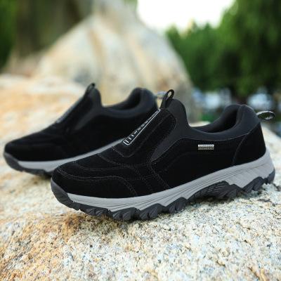 Giày đi bộ Cung cấp ánh sáng xuyên biên giới và thấp để giúp giày đi bộ Giày nam ngoài trời mang già