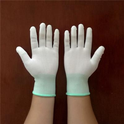 Găng tay bảo hộ Găng tay cọ phủ Pu chống tĩnh điện ngón tay nhúng găng tay chống trượt bảo vệ chống