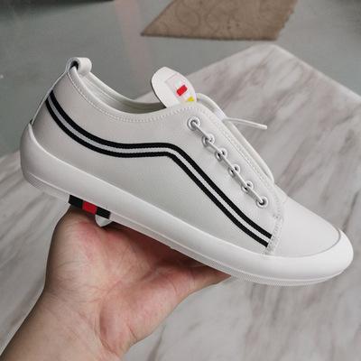 Giày Sneaker / Giày trượt ván Giày nam BEZIR giày thường giày trắng 2019 giày đế xuồng đàn hồi cao s