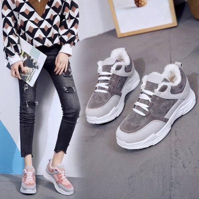 Thị trường giày nữ Mùa đông 2019 cộng với giày nhung nữ giày thể thao Giày cotton phiên bản Hàn Quốc