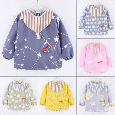 Áo khoác Trẻ em smock cotton mùa thu không thấm nước cho bé tay dài chống mặc quần áo bảo vệ quần áo
