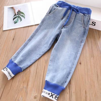 Thị trường trang phục trẻ em 328716 mới cung cấp đặc biệt dày mùa thu và mùa đông 2 cô gái in chữ cộ