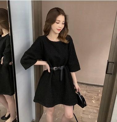 NUOYIOU Quần 2019 mùa thu mới ngoại thương vòng cổ váy búp bê lỏng váy đầm nữ sang trọng ngọt ngào M