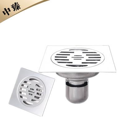 ZHONGZHEN cống sàn 5 inch 304 thép không gỉ nước sâu niêm phong sàn cống dày sử dụng kép khử mùi kiể