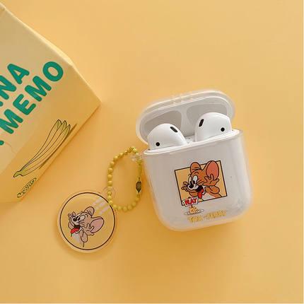 Aigo Hộp đựng tai nghe Mèo và chuột hoạt hình tai nghe AirPods dễ thương đặt Apple không dây Bluetoo