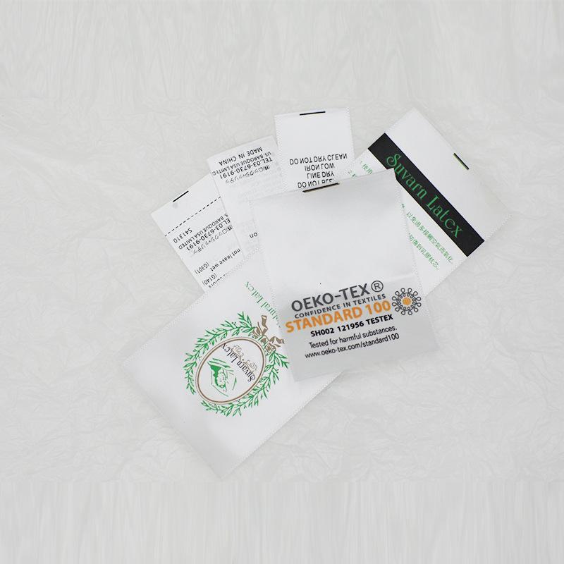 tem mạc , logo Ruy băng có thể giặt được quần áo và trang phục dệt may tại nhà đồ trang sức 衣服 Quần