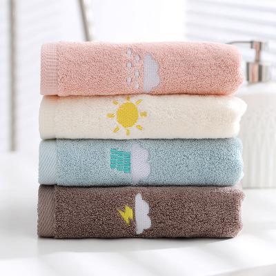 Khăn lông Nhà sản xuất siêu thị dành riêng khăn tùy chỉnh logo thêu bông dày dành cho người lớn khăn