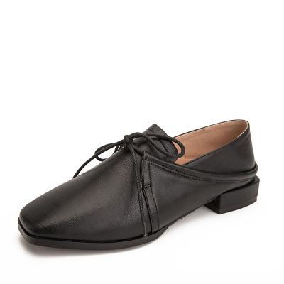 Giày Loafer / giày lười  Giày nữ mới thu đông và giày lười mùa đông hoang dã giản dị sâu thẳm đầu v