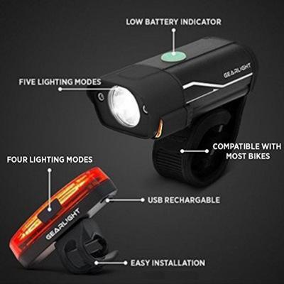 Đèn pha xe đạp USB Có thể sạc lại Đèn xe đạp bằng nhôm
