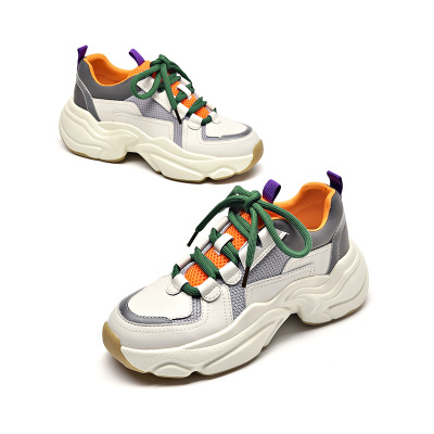 giày bánh mì / giày Platform Giày nữ cũ 2019 mùa thu và mùa đông Giày thể thao mới Giày nữ đế dày có