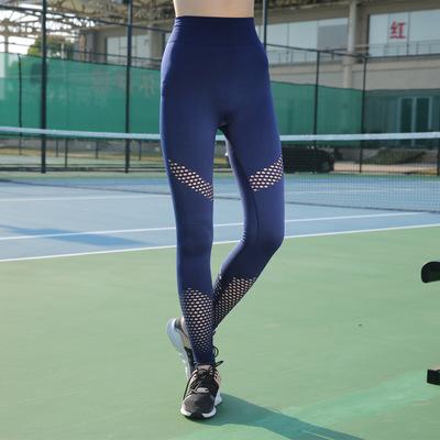 Đồ chống nắng mau khô Bán chạy nhất tập thể dục chạy bộ yoga hông chín điểm quần lưới nữ cao eo co g