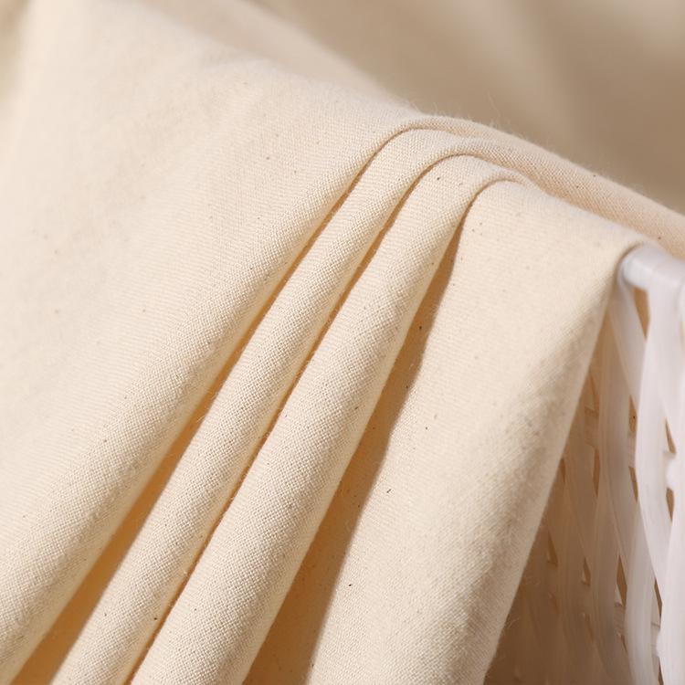 Vải Cotton mộc Cotton 20 * 60 vải trắng dập nổi thẻ mua sắm túi quần áo vải túi