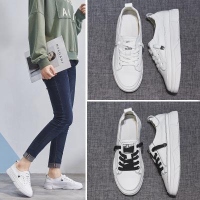 giày bệt nữ Giày da trắng nữ 2019 xuân mới phiên bản Hàn Quốc của sinh viên hoang dã đế bằng phẳng g