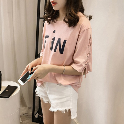 áo thun Bán buôn 2019 hè mới Áo thun nữ ngắn tay Hàn Quốc rộng rãi áo sơ mi nửa tay cỡ lớn nữ một th