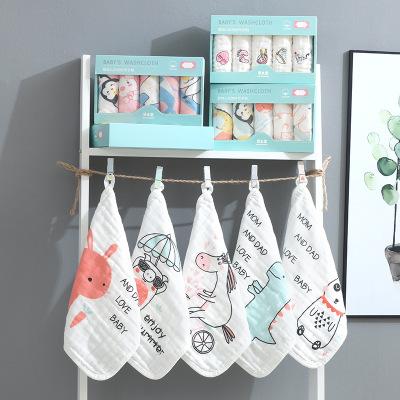 ZHENZHIBAO Khăn lông Bộ khăn gạc viền độc đáo khăn bông móc khăn tắm cho bé một thế hệ cần thiết hàn