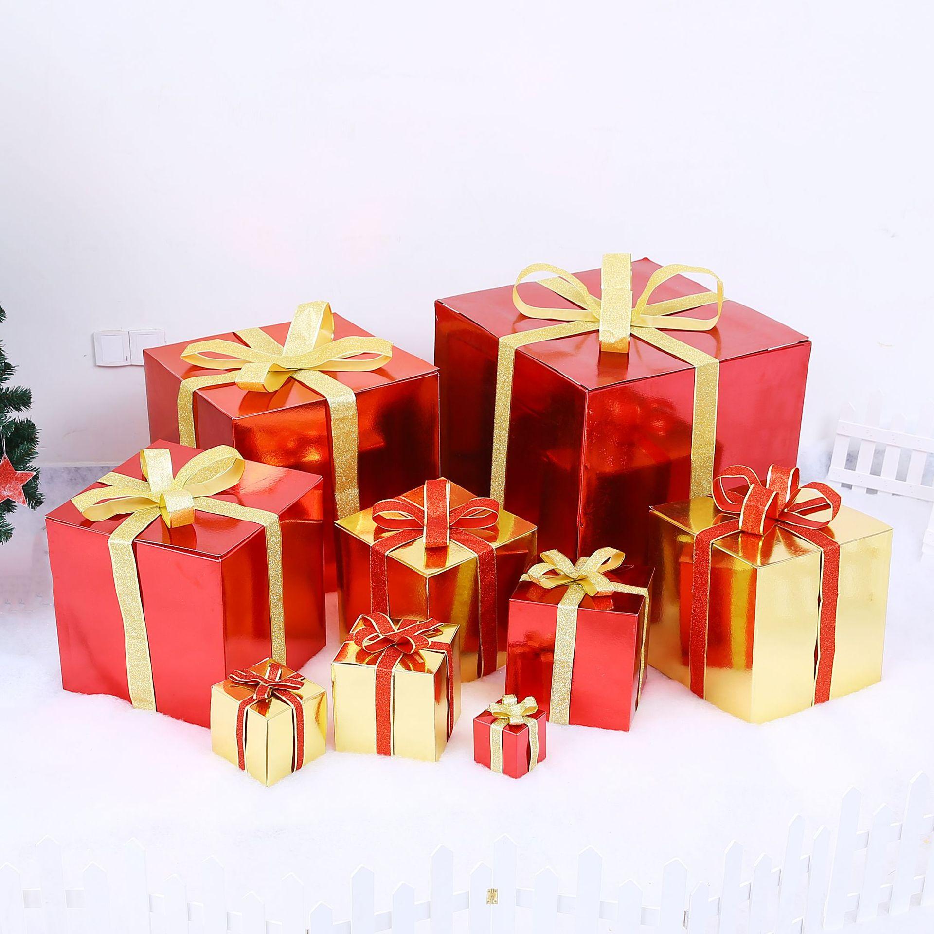NLSX bao bì Hộp quà Giáng sinh Hộp quà trang trí Giáng sinh Cửa hàng Giáng sinh cung cấp cửa sổ cảnh