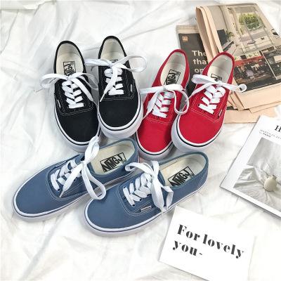 giày bệt nữ Xuân 2018 mẫu cơ bản giày vải nữ sinh viên phiên bản Hàn Quốc của đôi giày nhỏ màu trắng