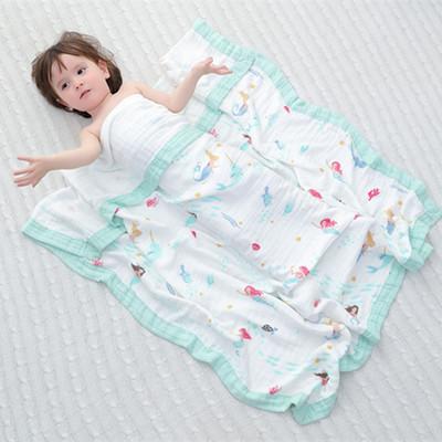 Khăn quấn Bông tre bốn lớp gạc trẻ em chăn gạc túi khăn trẻ em được bao phủ bởi trẻ mẫu giáo khăn lớ