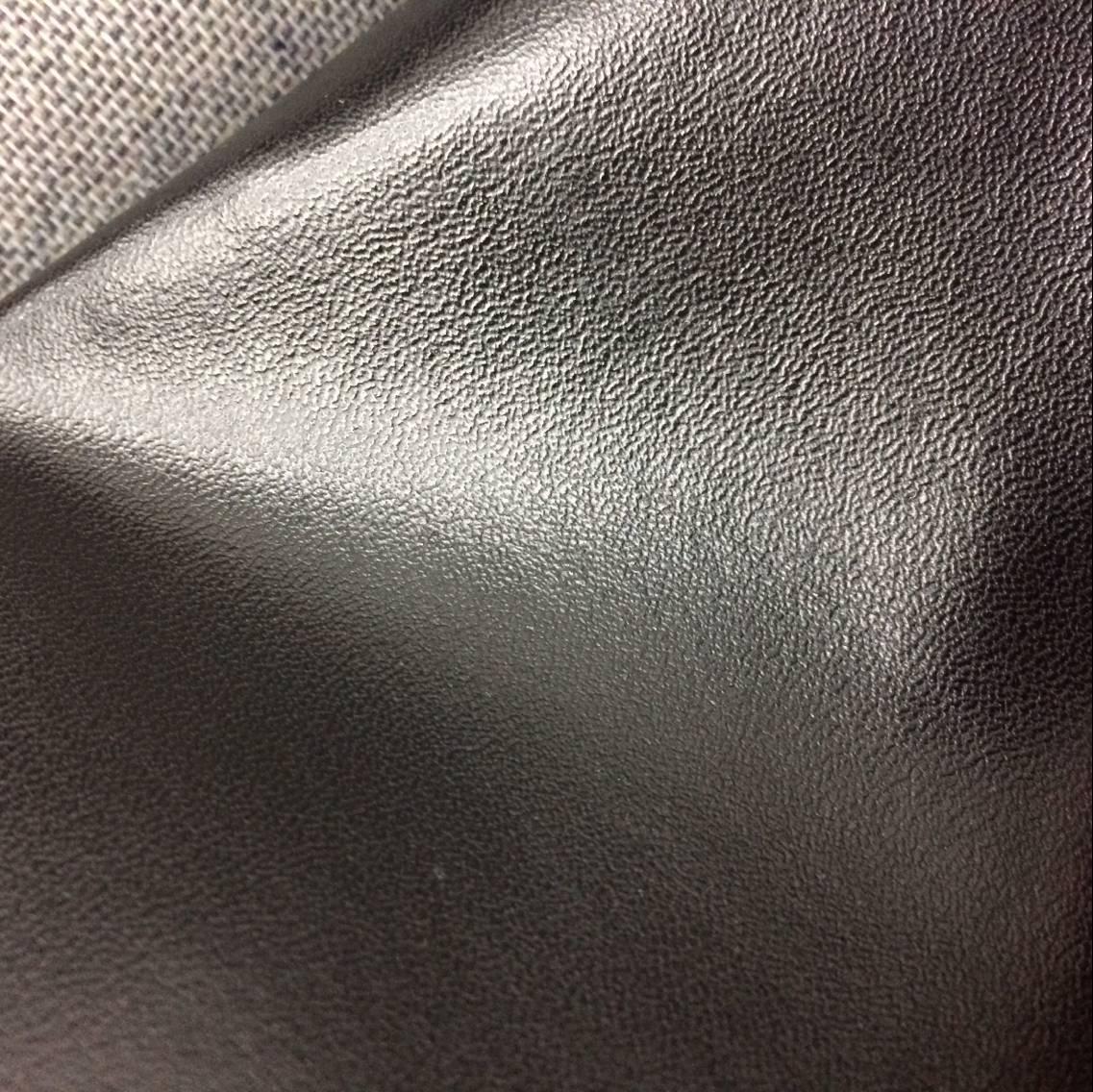 Simili tổng hợp PU đen napa mẫu PVC vải da hành lý Da PU da cừu da mềm da đồ nội thất vải