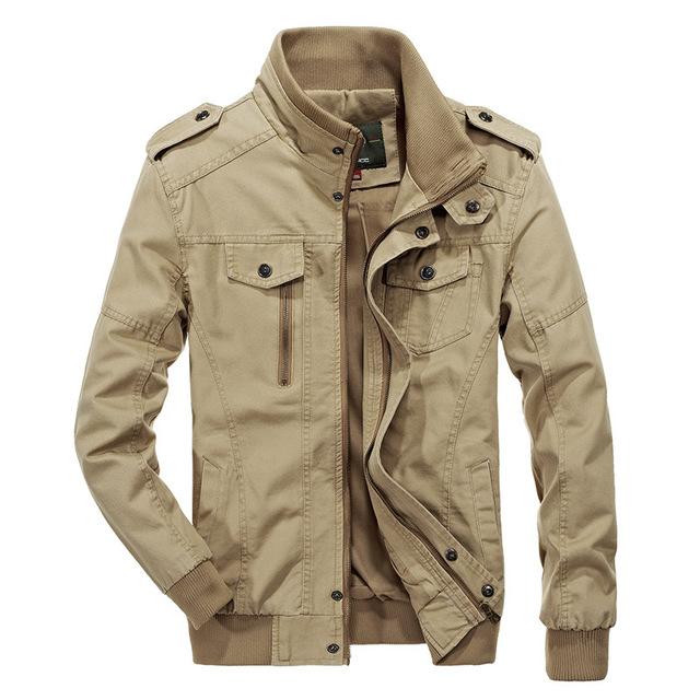 Áo khoác Túi băng đeo chéo nam áo khoác mùa thu áo khoác cotton giặt áo khoác mỏng quân đội