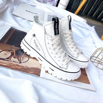 Giày Loafer / giày lười Giày trắng nhỏ nữ 2019 giày da mới phiên bản cao cấp Hàn Quốc giúp giày thủ