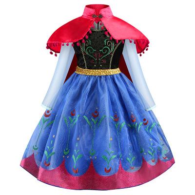 Trang phục dạ hôi trẻ em Quần áo trẻ em châu Âu và Mỹ 2019 mới cho bé gái váy dài tay cộng với áo ch