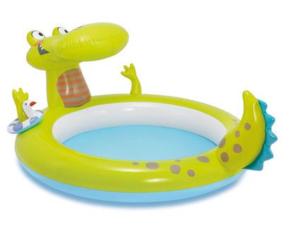 INTEX bể bơi trẻ sơ sinh Bản gốc INTEX cá sấu đài phun nước bể bơi bơm hơi paddock bé bi bóng 57431