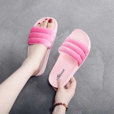 dép mang trong nhà Một thế hệ dép nữ PVC thổi phiên bản Hàn Quốc của slitpers cô gái dép đi biển chố