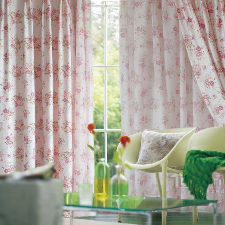 Joyfeel Vải rèm cửa Phong cách mộc mạc vải hoa cổ điển phòng ngủ rèm phòng khách vải