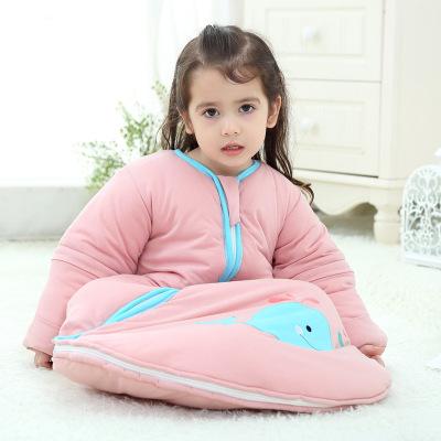 Túi ngủ trẻ em Túi ngủ trẻ em cotton túi ngủ cho bé bông mỏng túi ngủ chống đá nhà máy ngoại thương