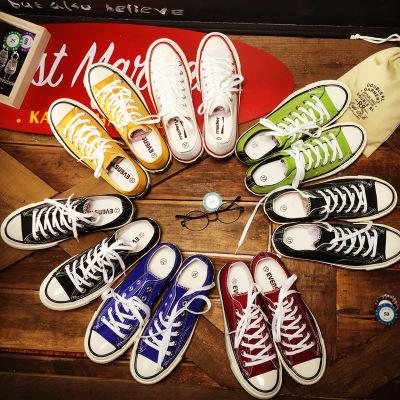 giày vải Ba đôi giày thấp lưu hóa thập niên 1970 Bản sao giày vải ulzzang của nữ sinh viên đôi giày