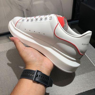 giày bánh mì / giày Platform 2019 phiên bản cao mới lạ McQueen giày trắng nhỏ tăng giày nữ mùa thu g